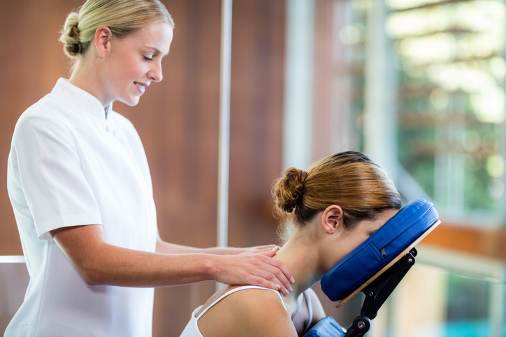 Workplace Seated Chair Massage From The Pamper Company